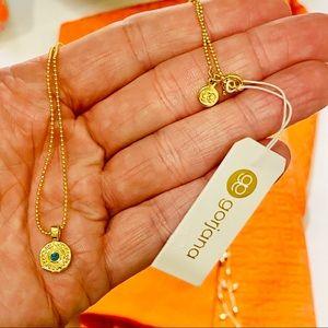 Gorjana Gold Turquoise Pendant Necklace